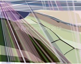 Stanage Edge .. Limited Edition Mounted Giclee print
