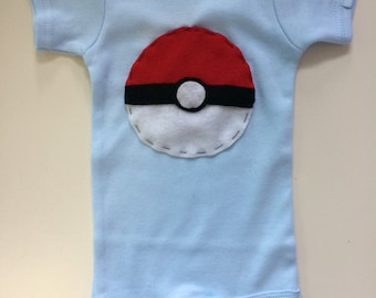 Pokeball Baby Onesie