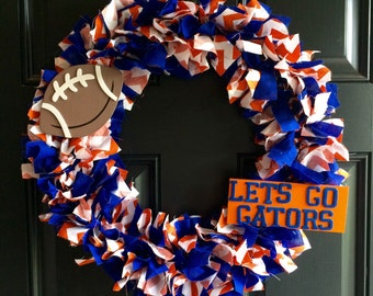 Florida Gators Football Wreath