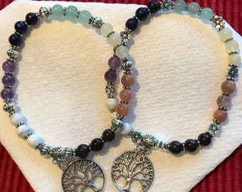Rainbow/Tree of Life/Chakras Bracelet