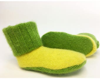 Cashmere Baby Booties,  Preemie Newborn Baby Clothes, 0-6 months, Shower Gift, Bright Colors, Marvelous Melissa, Wooly Wearables