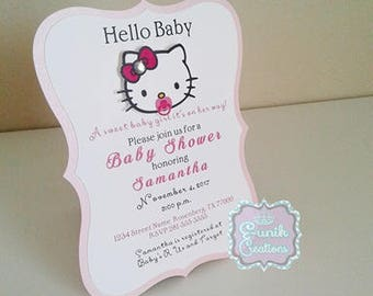 Hello kitty invite Etsy