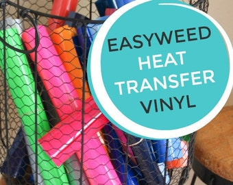Siser easyweed T Shirt IRON ON heat transfer Vinyl Sheets - HTV - 32 Color Choices Silhouette Vinyl Cutter Material - You choose size