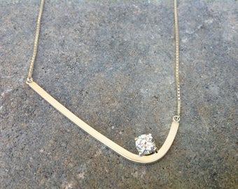Cz Pendant, CZ Necklace, Cubic Zirconia Jewelry, Silver CZ Pendant, Silver CZ Necklace, Cubic Zirconia Necklace
