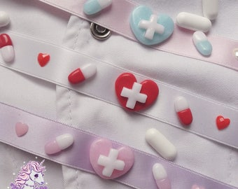 Kawaii Hospital chokers menhera hospital pills