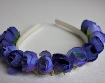Headband, flowers headband, wedding headband, bridal headband, bridesmaids headband, headpiecelower girl headband