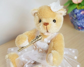 OOAK Mohair Artist Teddy Bear. Singer May. Tulle Dressed. Teddy Bear DIY Kit