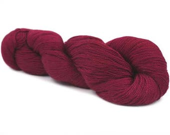 Rooster Yarns Delightful Lace Weight Alpaca Silk - Wine 606