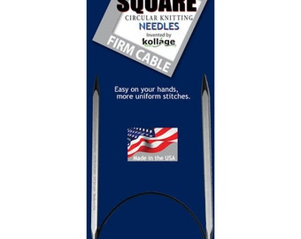 Kollage 16 Inch Size  6 (4.0mm) Square Circ FIRM Cable 59.1209