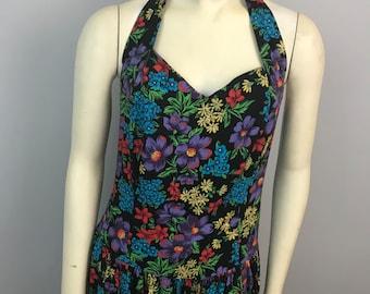 Vinatage Floral Halter Dress