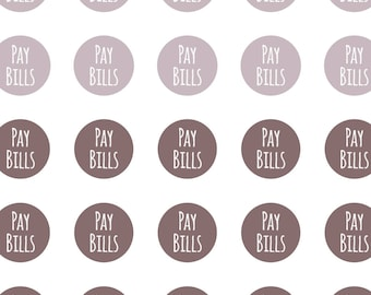 Pay Bills Stickers, Daily Stickers, Reminder Stickers, Planner Stickers, Pay Bill Stickers, Stickers, Bill Due Sticker, Pay Bill Sticker