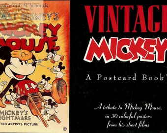 Vintage Mickey Postcard Book - 30 Postcards