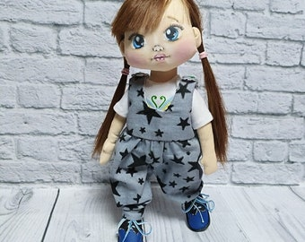 Doll   handmade toys handmade doll textile doll doll for children gift for a girl cloth doll