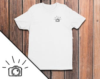 The 'Capture' Men's Classic Fitted Tee - photographer shirt - camera shirt - photography shirt
