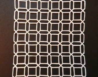 Pennsylvania Dutch Honeycomb Quilt Scherenschnitte