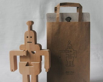 "Wooden robot puzzle ""Jerome""."