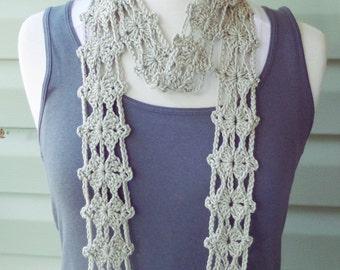 PATTERN S-016 / Crochet Pattern / Allegra Scarf ... Sport 100 yards