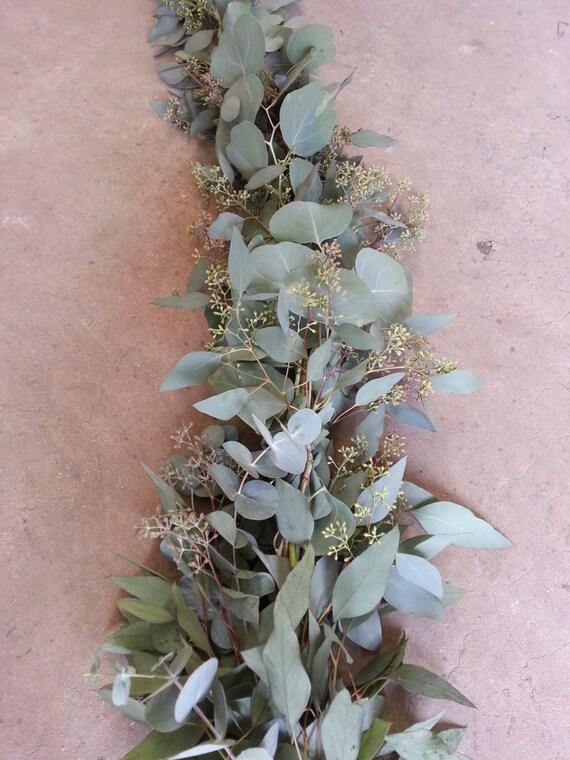 Seeded Eucalyptus And Silver Dollar Garland Fresh