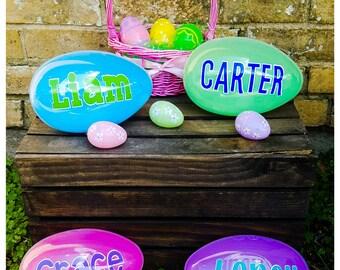 Personalized Jumbo Easter Egg // Custom Easter Basket Filler // Custom Easter Egg // Easter Gift // Fillable Easter Egg