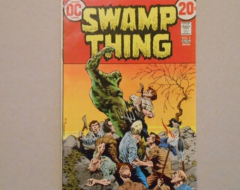 Swamp Thing #5; Berni Wrightson; Swamp Thing re-grows limbs;  Ravenwind Witches; Classic Wrightson Swamp Thing; Key Comic!