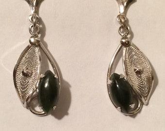 Vintage Zeidell's Sterling Silver  Filigree Earrings