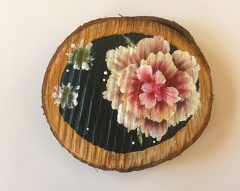 Pink // Large Painted Wooden Plaque