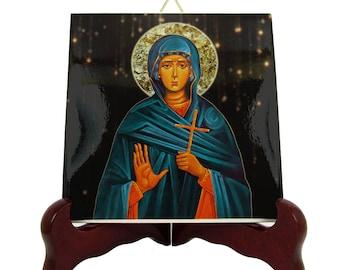 Saint Sophia the Martyr -  St Sophia icon on ceramic tile - saints serie - St Sophia Martyr - Santa Sofia - Saint Sophia icon Martyr Sophia