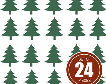 Christmas tree stickers, Envelope seals, holiday stickers, Tree Stickers, Christmas Stickers, Winter Stickers, Holiday Stickers, Tree Labels