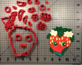 Shopkins Strawberry Kiss Cutter 3 inch