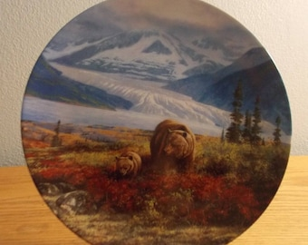 Autumn Grandur ALASKA the last  FRONTIER Collector Collection PLATE