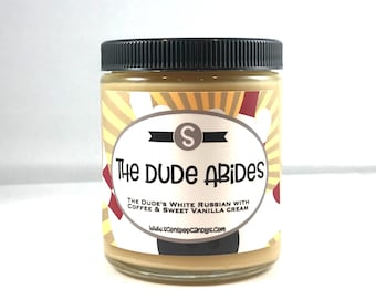 The Dude Abides, The Big Lebowski Inspired Soy Candle