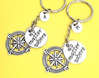 SET OF 2 Friendship keychain - set of Two, bff charm, keychain, set of 2 best friend,customized keychain,monogram,initial keychain, bff gift