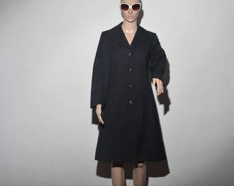 Trench coat black 60s