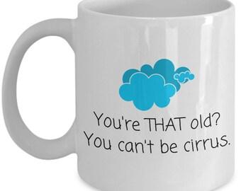 Meteorologist Birthday Gift - Meteorology Coffee Mug - You Can't Be Cirrus - Weather Science Mug