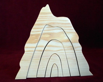 Big Stacker Volcano, Unfinished Pine