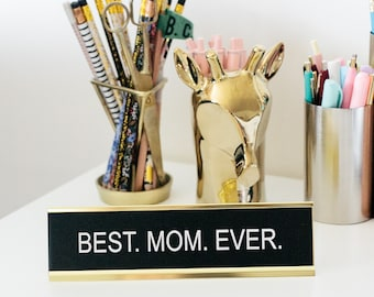 Office Signs, Funny Desk Signs, Home Office, Cat Gifts, Teacher Gifts, Mother's Day Gift, Gifts for Her, Gifts for Mom, Desk Decor