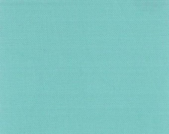 FABRIC SOLID RETRO Aqua Bella Cotton by Moda 1/2 yard