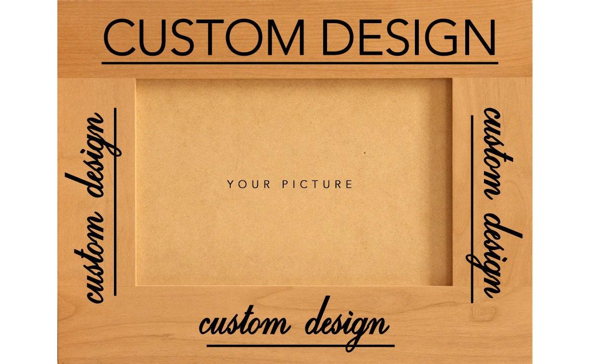 Custom Frame Engraved Frame Personalized Frame Wooden