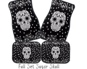 Sugar Skull Car Mat