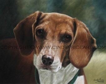 Custom Pet Portrait - pastel painting dog, cat, horse, bird....