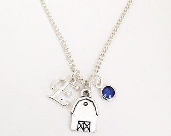 Personalized Barn Necklace