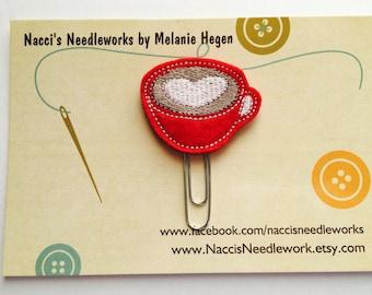 Mug Love Decorative Planner Clip - Coffee Cup Planner Accessories - Decorative Paper Clip - Bookmark