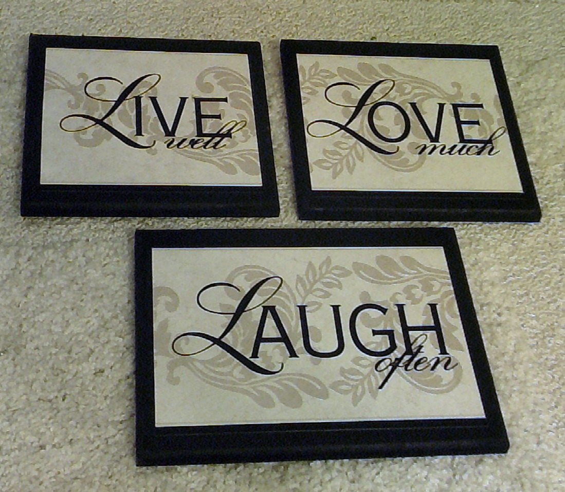 Live Laugh Love Wall Decor Live Well Love Much Laugh Often Home Wall Decor Plaques
