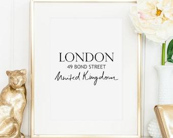 Poster, Print, Kunstdruck, Artprint, Wallart: London, 49 Bond Street, United Kingdom