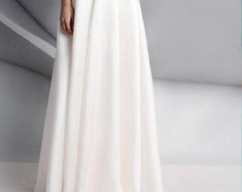 Wedding separates LISA Faux Silk  taffeta skirt 11 colors options