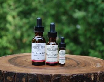 Rose Geranium essential oil-essential oil 100% pure-essential oil-Pure essential oil-Rose Geranium oil-aromatherapy-supplies-1oz-1/2oz-dram