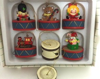 Set of Vintage Christmas Tree Ornaments 1983