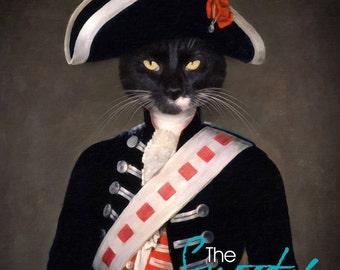 Cat Portrait Custom, Military Cat Portrait, Soldier Cat portrait , Cat Portrait form Photo