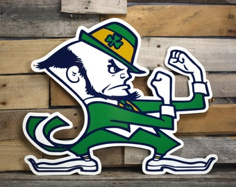 SALE--Notre Dame Fighting Irish Sign/Metal Sign/Wall Art/Home Decor/Wall Decor/Office Decor/Boyfriend Gift/Husband Gift/Dad Gift/Mens Gift
