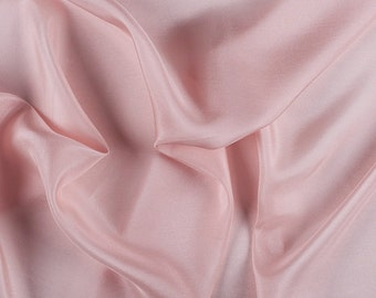 """45"""" Wide 100% Silk Habotai Blush Pink-Wholesale by the Yard (2000M112)"""